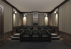 Interior of a home theater Stock Image