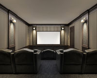 Interior of a home theater Royalty Free Stock Photography