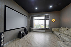 Interior home theater Royalty Free Stock Image
