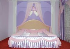 Interior of honeymoon room Royalty Free Stock Photography