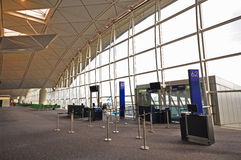 Interior of Hong Kong International Airport Stock Photos