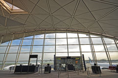 Interior of Hong Kong International Airport Stock Image