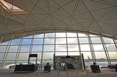 Interior of Hong Kong International Airport stock image