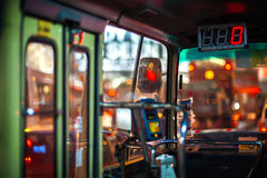 Interior of a Hong Kong public light bus Stock Photography