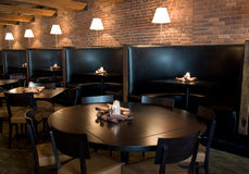 Interior horizontal del restaurante Fotografía de archivo libre de regalías