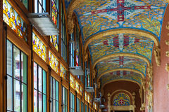 Interior of Hospital de la Santa Creu i Sant Pau in Barcelona Royalty Free Stock Image