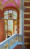 Interior of Hospital de la Santa Creu i Sant Pau in Barcelona Stock Photos