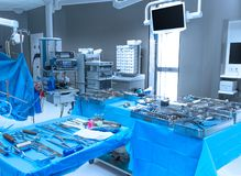 Interior hospital operation room Stock Images