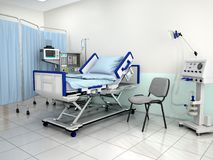 The interior of the hospital room. 3d illustration Stock Images