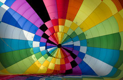 Interior of a hot-air balloon envelope Stock Image