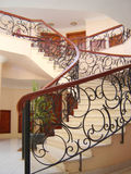 Interior of hotel. With stairway and banisters photo stock photography