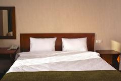 Interior of hotel bedroom Royalty Free Stock Photos