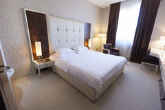 Interior of a hotel bedroom Royalty Free Stock Photo