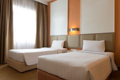 Interior of hotel bedroom Royalty Free Stock Image