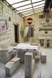 Interior of Hotel built of salt blocks in Salar de Uyuni Royalty Free Stock Image
