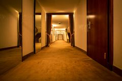 Interior of hotel corridor Royalty Free Stock Photo