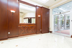 Interior of a hotel entrance Stock Images