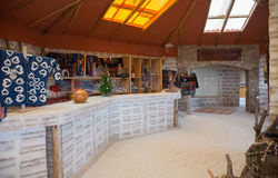 Interior of the hotel made from salt bricks Stock Image