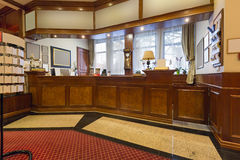 Interior of a hotel reception area Stock Photo