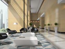 Interior of a hotel reception 3D illustration Stock Photo