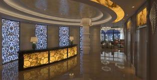 Interior of hotel reception hall 3D illustration Royalty Free Stock Photo