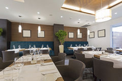 Interior of a hotel restaurant Royalty Free Stock Image
