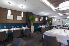 Interior of a hotel restaurant.  Royalty Free Stock Image