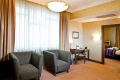 Interior of a hotel room Royalty Free Stock Images