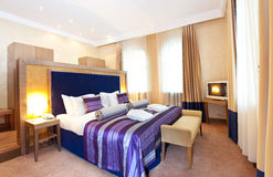 Interior of a hotel room Stock Images