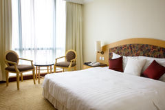 Interior of the hotel room. Bedroom. Interior of the hotel room Royalty Free Stock Images