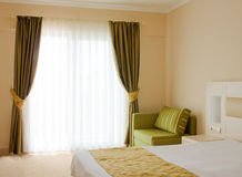 Interior of the hotel room. Bedroom. Interior of the hotel room Royalty Free Stock Photo
