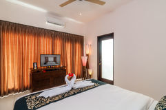 Interior of hotel room, Bali Stock Images