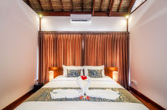 Interior of hotel room, Bali Stock Photography