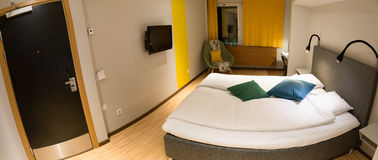 Interior of a hotel room Royalty Free Stock Photo