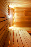 Interior of a hotel sauna Royalty Free Stock Image
