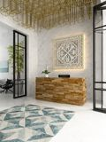 Interior of a hotel spa reception 3D illustration Stock Images