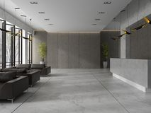 Interior of a hotel spa reception 3D illustration Royalty Free Stock Photography