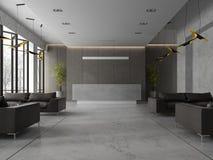 Interior of a hotel spa reception 3D illustration Stock Image