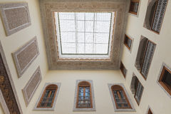 Interior of house in arabian style has clear roof top Royalty Free Stock Image