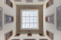 Interior of house in arabian style has clear roof top Stock Images