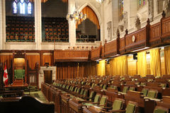 Interior of House of Commons. Of Canadian Parliament in Ottawa, Canada royalty free stock photos