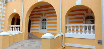 The interior of the house of the courtyard in the city of Vladimir. stock photo