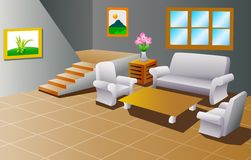 Interior of a house living room Stock Photography