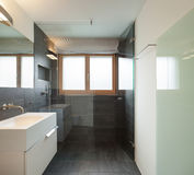 Interior house, modern bathroom Royalty Free Stock Photography