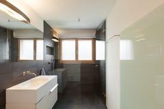 Interior house, modern bathroom Stock Photography