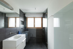 Interior house, modern bathroom Royalty Free Stock Images
