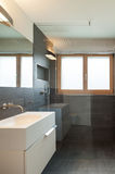Interior house, modern bathroom Stock Image
