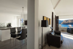 Interior of house, open space Royalty Free Stock Images