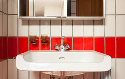 Interior house, sink of bathroom Stock Photography