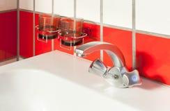 Interior house, sink of bathroom Royalty Free Stock Photo